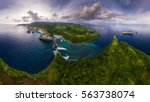 aerial panorama of the rocky... | Shutterstock . vector #563738074