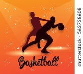 basketball player sportsman... | Shutterstock .eps vector #563738608