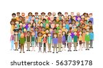 group of business people big... | Shutterstock .eps vector #563739178