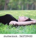 outdoor portrait of a beautiful ... | Shutterstock . vector #563739430