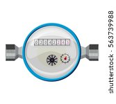 water meter icon. cartoon... | Shutterstock .eps vector #563739988