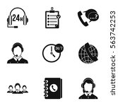 technical support icons set.... | Shutterstock .eps vector #563742253
