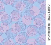 seashells vector illustration | Shutterstock .eps vector #563753590
