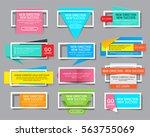 set of colorful website banner... | Shutterstock .eps vector #563755069