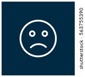 sad vector icon | Shutterstock .eps vector #563755390