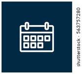 calendar vector icon | Shutterstock .eps vector #563757280