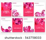 february 4  world cancer day... | Shutterstock .eps vector #563758033