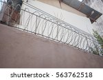 Barbed Wire Fence. Prison Fence