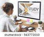 distance learning online...   Shutterstock . vector #563772010