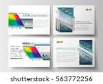 set of business templates for... | Shutterstock .eps vector #563772256