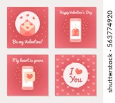 set of greeting cards for... | Shutterstock .eps vector #563774920