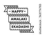 happy amalaki ekadashi emblem... | Shutterstock .eps vector #563776783