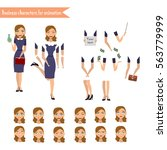 pupil character for your scenes.... | Shutterstock .eps vector #563779999