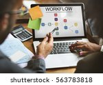 progress summary workflow...   Shutterstock . vector #563783818