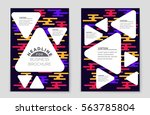 abstract vector layout... | Shutterstock .eps vector #563785804