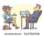 cartoon illustration with... | Shutterstock .eps vector #563786548