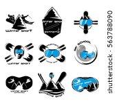 set winter sport logo design...   Shutterstock .eps vector #563788090