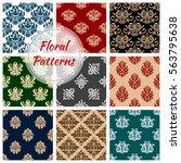 floral pattern. flowery... | Shutterstock .eps vector #563795638
