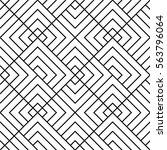 seamless geometric pattern.... | Shutterstock .eps vector #563796064