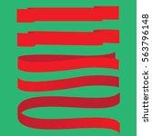 set vector ribbons banners flat ... | Shutterstock .eps vector #563796148