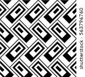 seamless geometric pattern.... | Shutterstock .eps vector #563796760