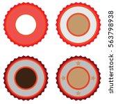 vector farm badge set of fresh... | Shutterstock .eps vector #563798938
