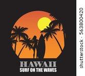 hawaii theme poster | Shutterstock .eps vector #563800420