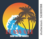 hawaii theme poster | Shutterstock .eps vector #563800588
