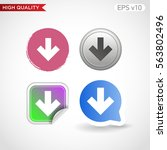 colored icon or button of bown...