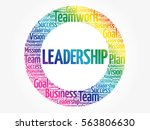 leadership word cloud collage ... | Shutterstock .eps vector #563806630