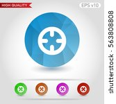colored icon or button of... | Shutterstock .eps vector #563808808