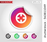 colored icon or button of...   Shutterstock .eps vector #563811049