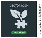 eco puzzle leaf vector icon | Shutterstock .eps vector #563814490