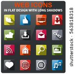 social media icons set in flat... | Shutterstock .eps vector #563818318