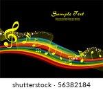 vector illustration of musical... | Shutterstock .eps vector #56382184