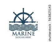 marine oceanic logo design... | Shutterstock .eps vector #563825143