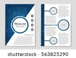 abstract vector layout...   Shutterstock .eps vector #563825290