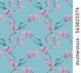 field flowers seamless pattern. ... | Shutterstock . vector #563825374