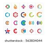 abstract alphabet typography   Shutterstock .eps vector #563834044