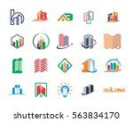 variation mixed skyscraper... | Shutterstock .eps vector #563834170