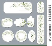 floral spring templates with... | Shutterstock .eps vector #563835898