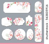 floral spring templates with... | Shutterstock .eps vector #563835916