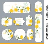 floral spring templates with... | Shutterstock .eps vector #563836003