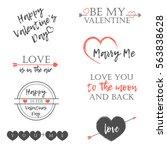 happy valentine's day postcard. ... | Shutterstock .eps vector #563838628