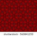 decorative wallpaper design in... | Shutterstock .eps vector #563841253