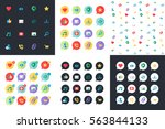 web icons for blog and social... | Shutterstock .eps vector #563844133