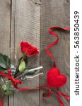 Valentine\'s Card. Red Rose Two...