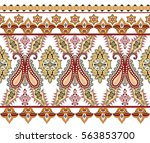 seamless wide border with ... | Shutterstock .eps vector #563853700
