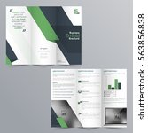 modern tri fold corporate... | Shutterstock .eps vector #563856838