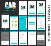 car servicing mobile app ui  ux ... | Shutterstock .eps vector #563860258